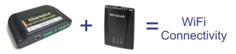 EtherRain Wifi Irrigation Sprinkler Controller with Netgear WNCE2001